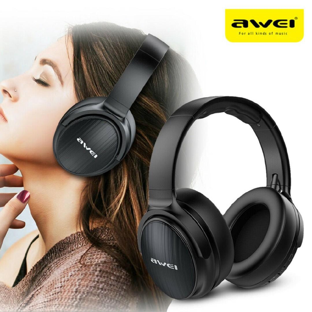 AWEI A780BL Wireless Bluetooth V5.0 Headphones Gaming Stereo Super Bass  40mm With Mic | Shopee Malaysia