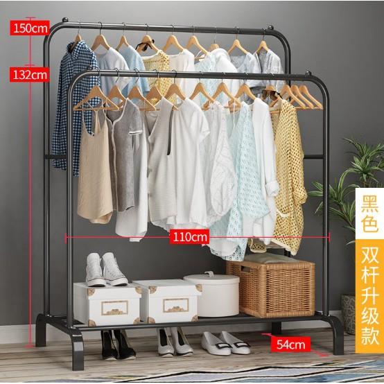 3 in 1 DIY Garment Rack/ Clothes Rack /Penyangkut Baju/ Penyidai Baju 站式衣架/钢铁衣架 (双杠)