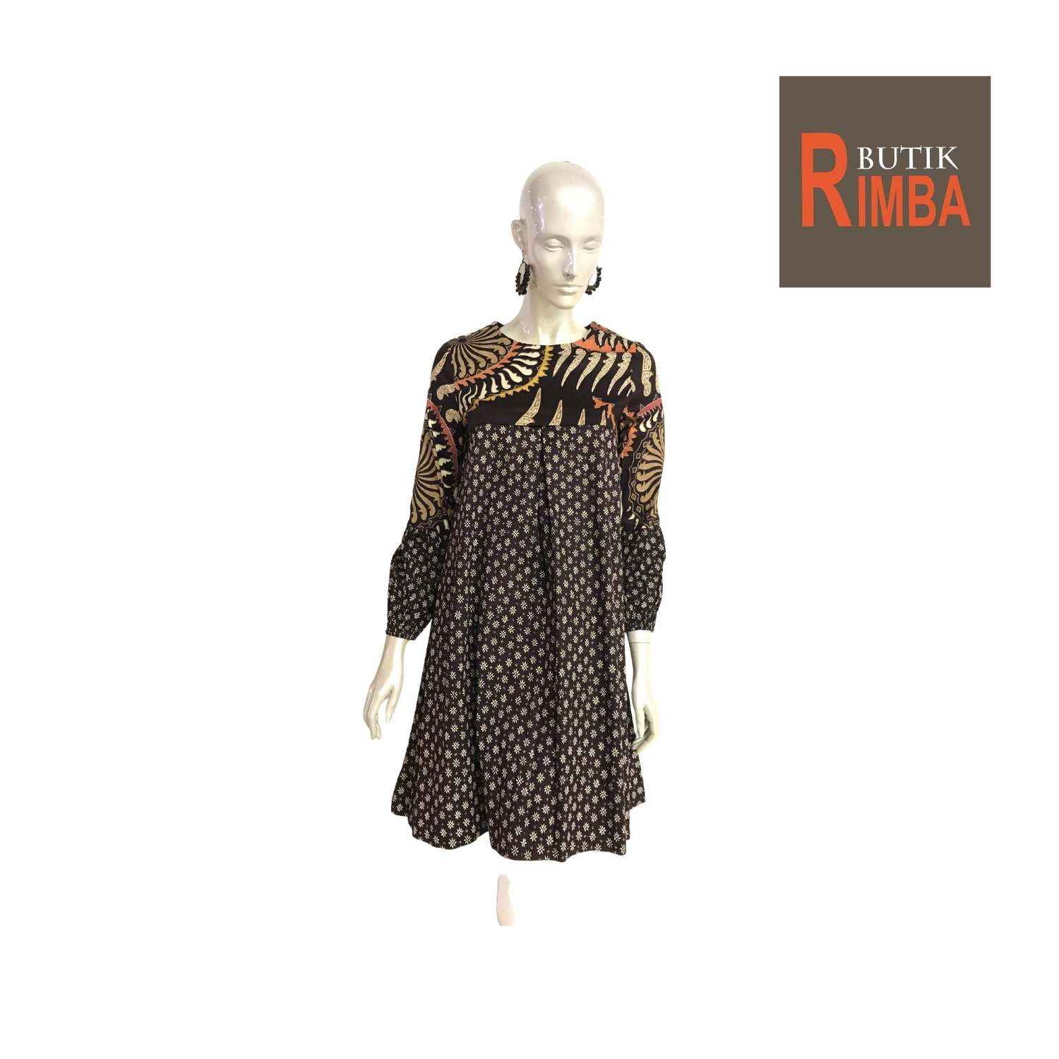 MODERN DRESS BATIK COTTON STRETCHABLE KNEE LENGTH FREE SIZE FOR FASHIONABLE WOMEN IN MIND 04