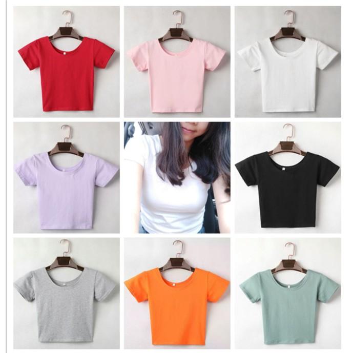 New Design Short Tee Women Korean students Short Sleeve T-shirt Female Clothes