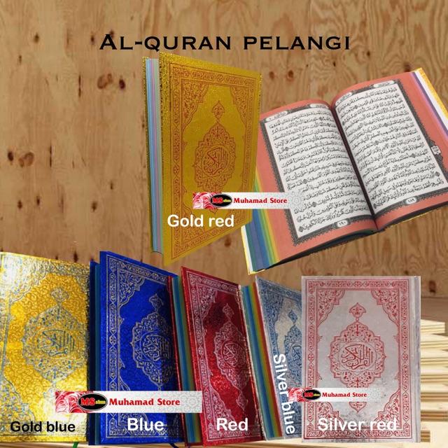 Al-Quran Emas / Silver Hantaran EDISI PELANGI saiz A5