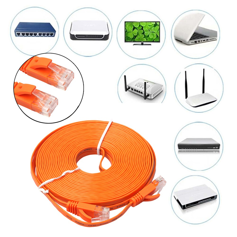 Flat Ethernet Cat6 Network Cable Patch Lead Rj45 Shopee Malaysia Cables Shielded Cat5e Blue Snagless Molded Boot 1 Foot