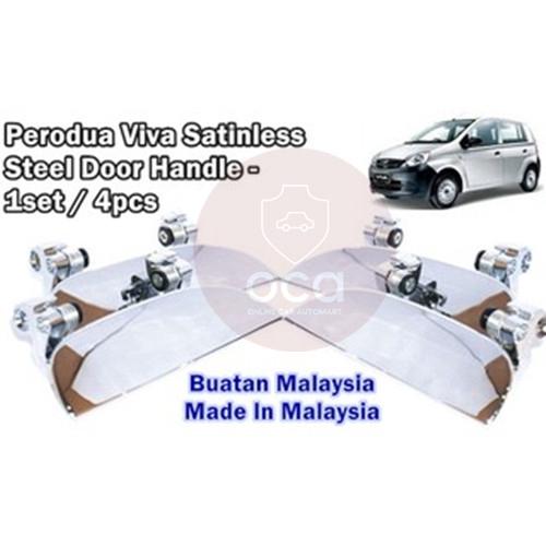 Perodua Viva Door Handle Chrome -Stainless Steel (4pcs/1set)