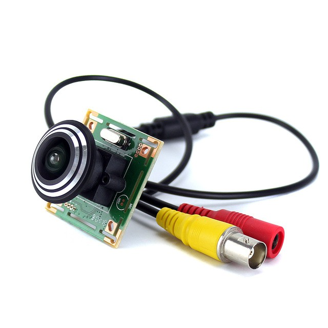 wide view 7040 700TVL CMOS COLOR Security Camera with door camera Lens with  BNC Video cable