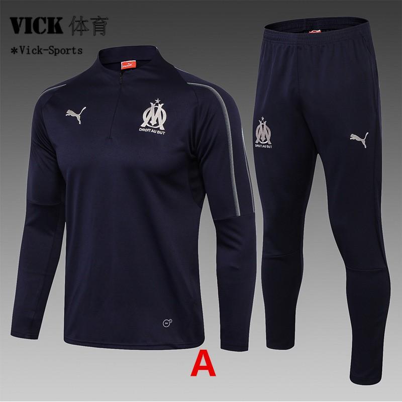 sports shoes 175d1 08ef2 Utd Marseille Jordan Real Madrid Jersey Long Sleeve training Suit  Sweatshirt Kit