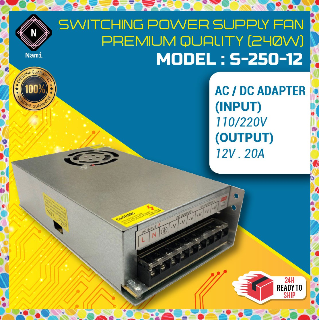 12V 20A Switching Power Supply 250W Premium Quality