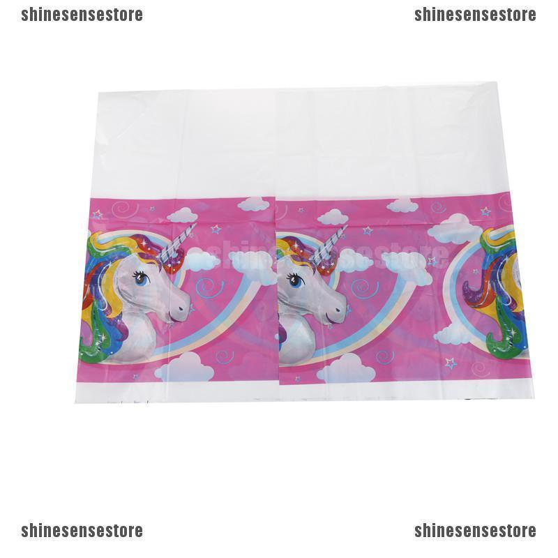 Unicorn Tablecloth baby shower party supplies table cover ...