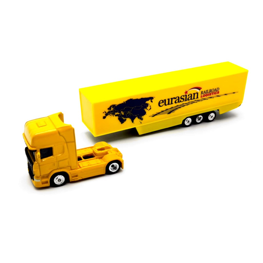 WELLY 1:87 METAL DIE CAST SCANIA CONTAINER TRUCK (YELLOW) MODEL COLLECTION 72135W