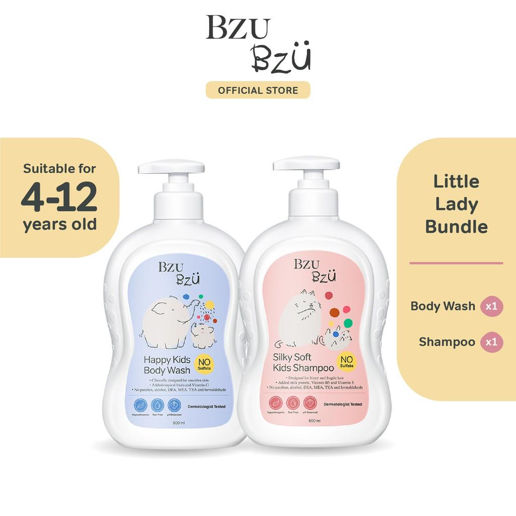 BZU BZU Little Lady Bundle - Silky Soft Kids Shampoo (600ml) + Happy Kids Body Wash (600ml)