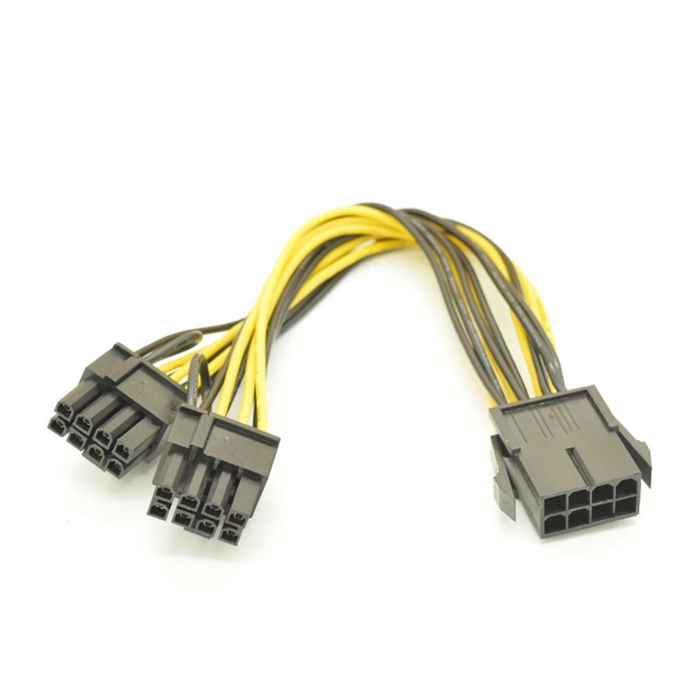 5PCS PCI-E Graphic Card Power Connector Cable Adapter Dual 4-Pin to 6-Pin SP