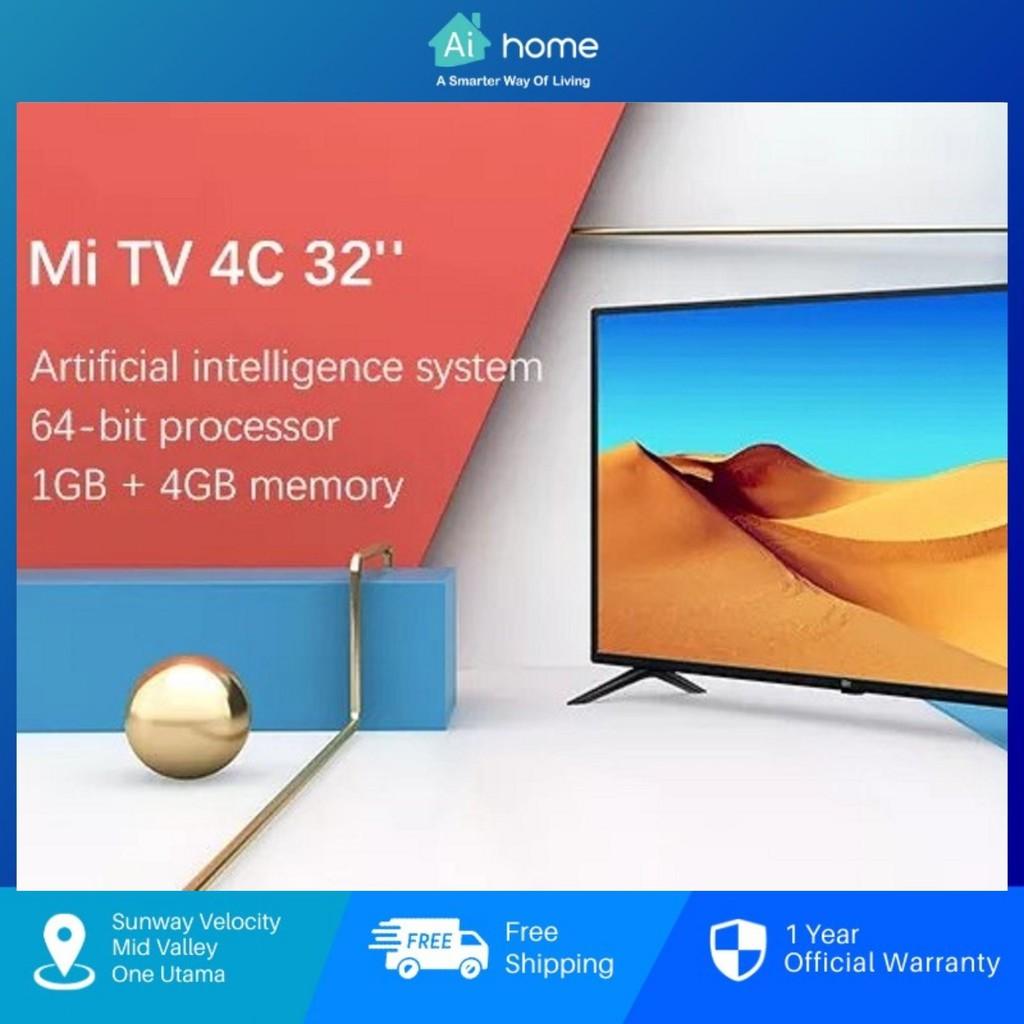 "XiaoMi LED Smart TV 4C 32"" 1080 HD [ CN Version ] DTS-HD   H.265   1GB+4GB [ Aihome ]"