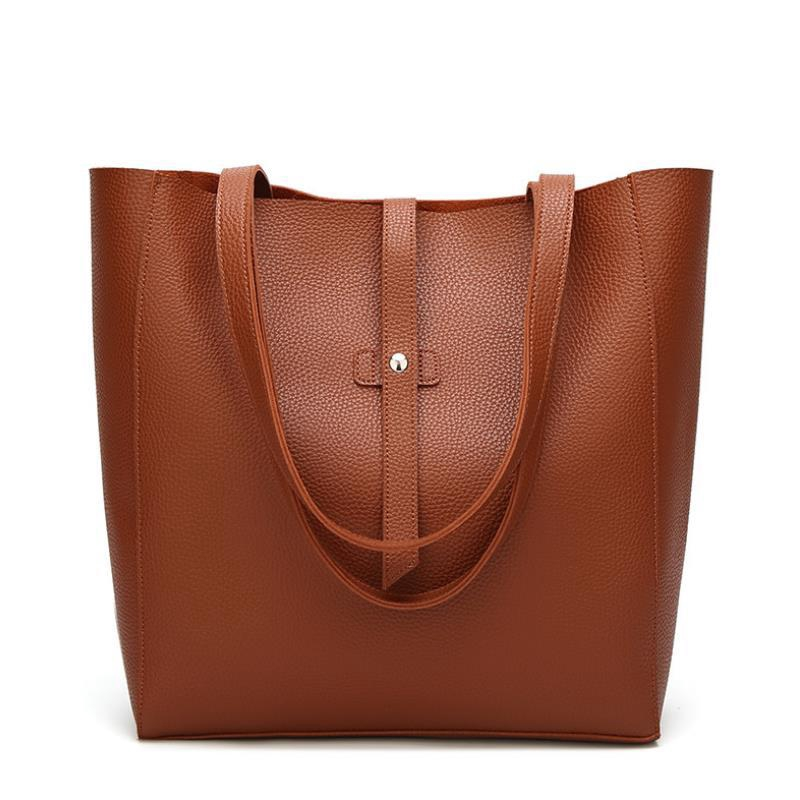 93e4cbbe7604 Fashion women's mobile trend plain shoulder bag bucket bag