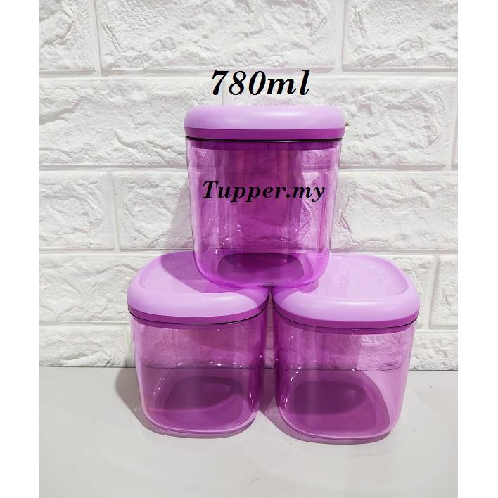 *1pc*Tupperware Crystalline Canister 780ml purple