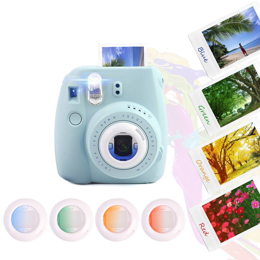 for Instax Mini 8 Mini 9 Instant Film Camera Close Up Color Filter Quality Photo 6 Pack Lens Filters