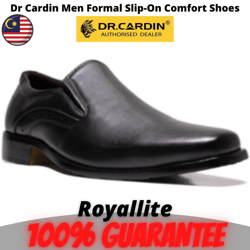 Dr Cardin Men Formal Slip-On Micro Suede Comfort Shoes (6300A) Black