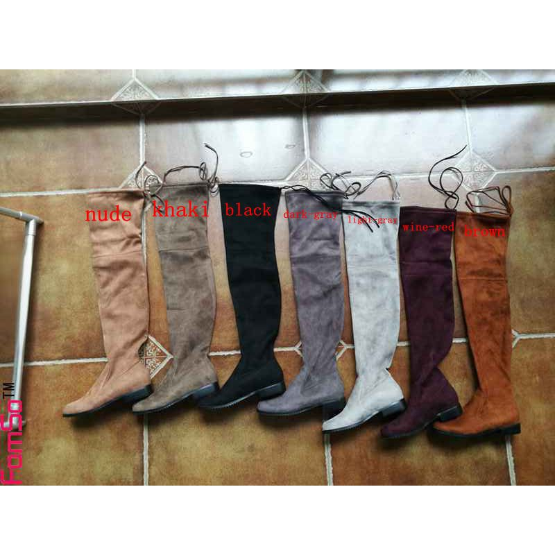 2106c1f8713 Shoes for Women Boots Autumn over the knee boots Winter Flats Shoes