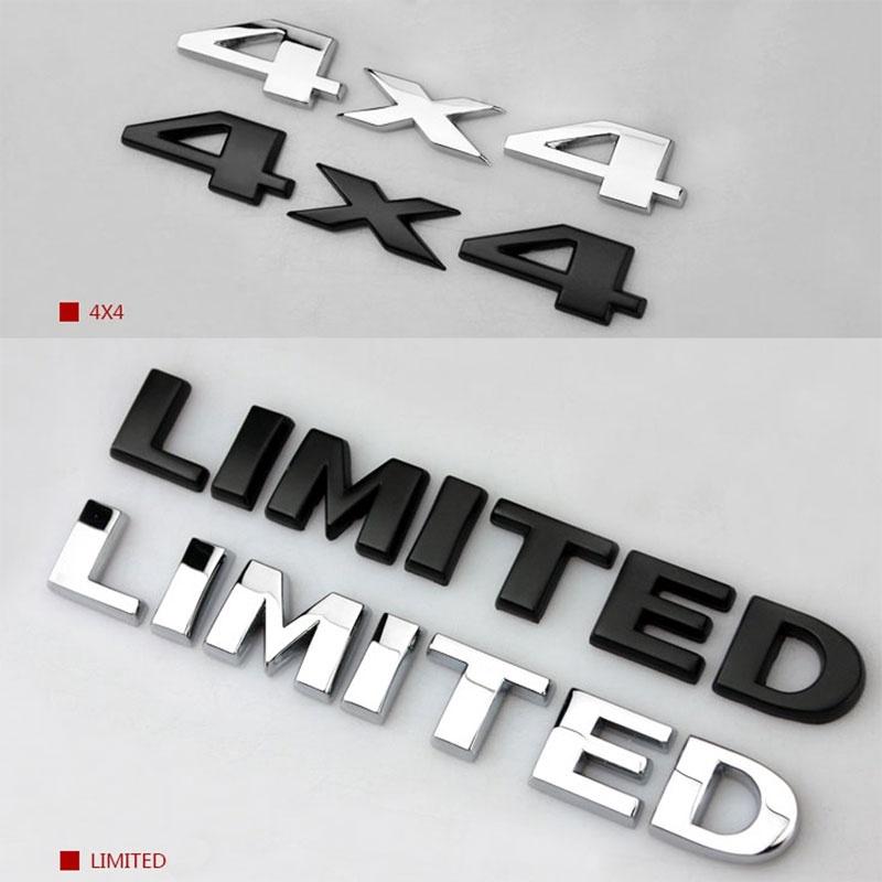 New Black 4 X 4 Chrome Logo 3D Decal Emblem Logo Sticker Badge for Jeep Grand Cherokee Wrangler Compass