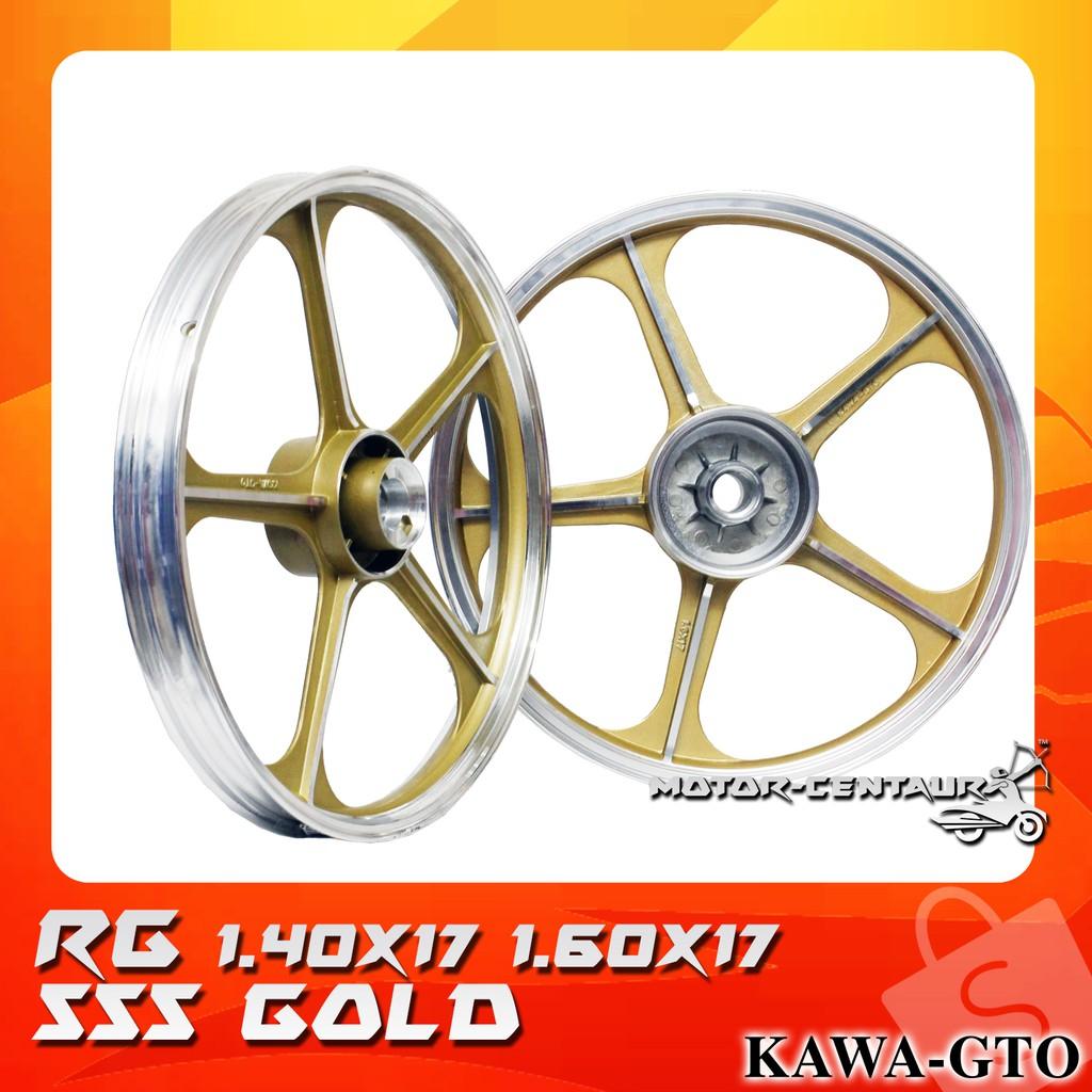 KAWA-GTO SPORT RIMS SET 555 1 40X17(F) 1 60X17(R) FOR SUZUKI RG GOLD