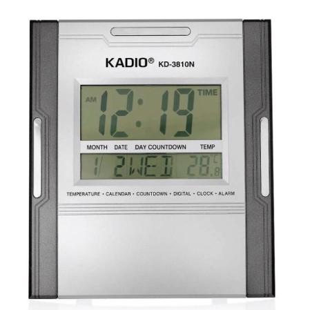 KADIO Clock KD-3810 Wide-Screen Display Digital Clock
