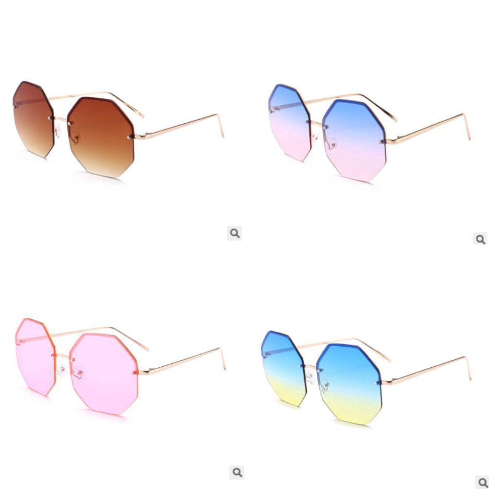 Wsunglass New metal color film sunglasses trend mens and womens same sunglasses frameless sunglasses/_1