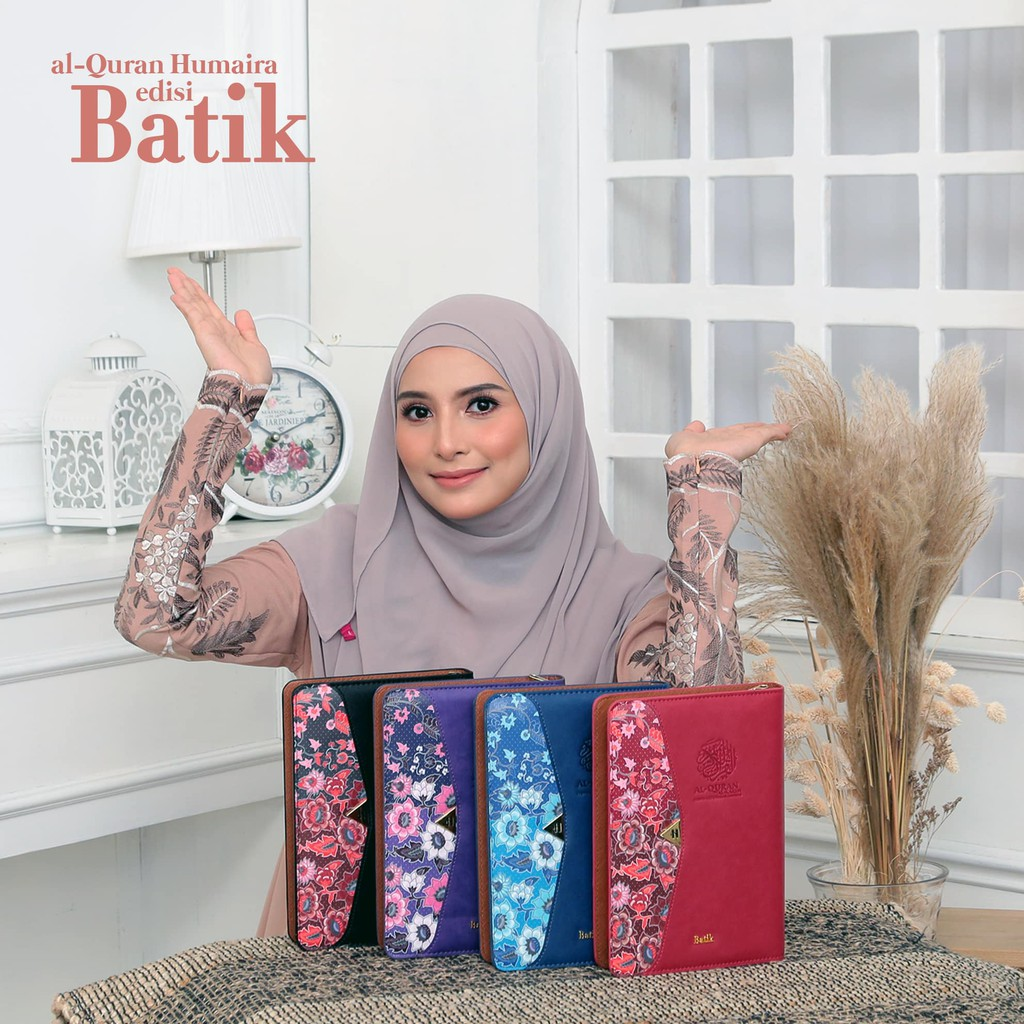 Al Quran Tagging Batik A5 Humaira Al Quran Terjemahan Bahasa Melayu dan Tajwid Al Quran Hantaran Hadiah Emmemarina