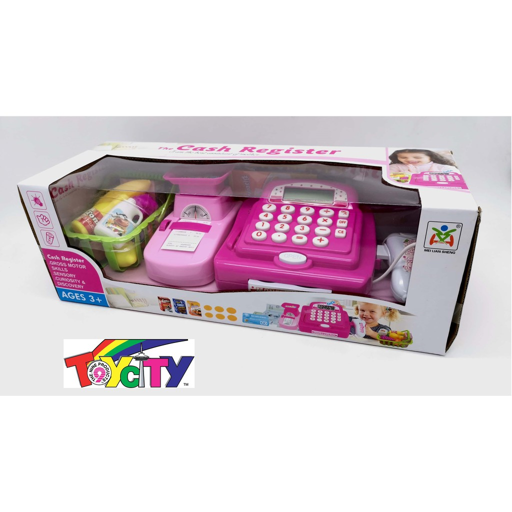 CHILDREN\'S PLAYING MULTIFUNCTION CASH REGISTER WITH CALCULATOR AND SCANNING FOR KIDS GIRLS AND BOYS
