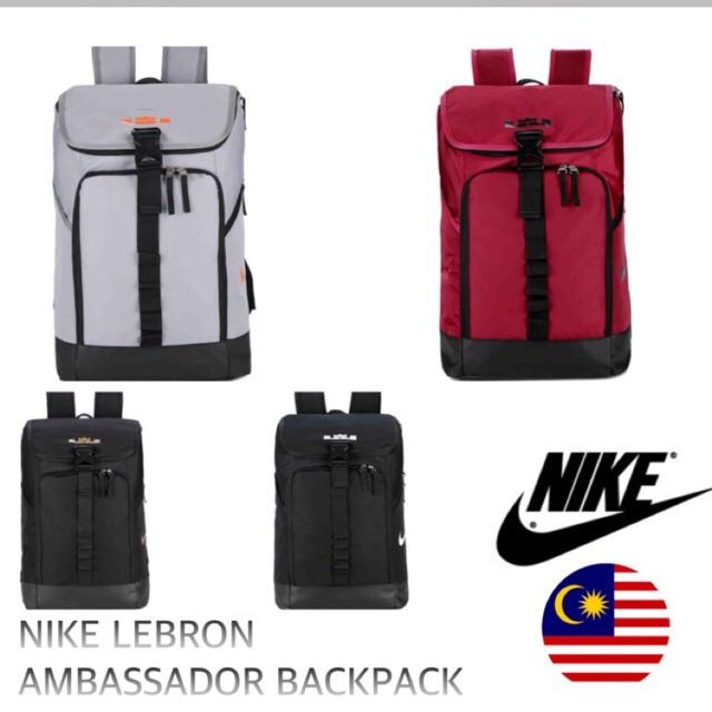 8f97c6e9f9 Mens Nike LeBron Max Air Ambassador Backpack Black University Red Size One  Size