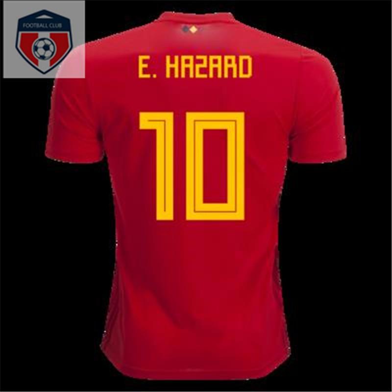 35c70ee2580 Genuine 2018 World Cup national team Belgium home de Braun jersey Arza football  clothing suit