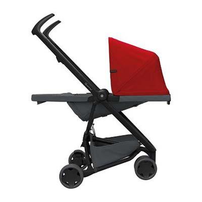 Quinny: Zapp Flex Stroller - RED ON GRAPHITE (FREE Zapp X Seat Liner - SKY)
