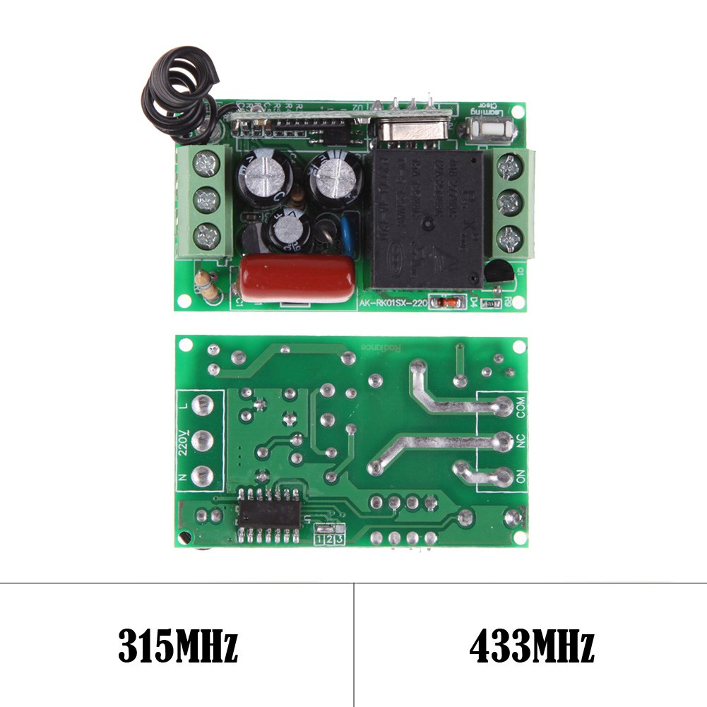 For220v 1ch 433mhz Remote Control Switch With Wireless Rf Circuit Board Garage Door 315 Shopee Malaysia