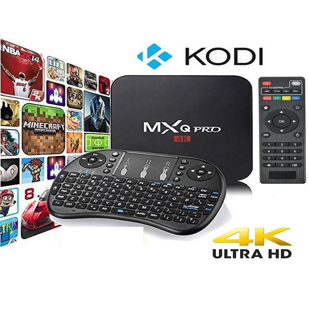 (FULL 9900+) MXQ Pro 4k Android Tv Box decoder tvbox / iptv media player