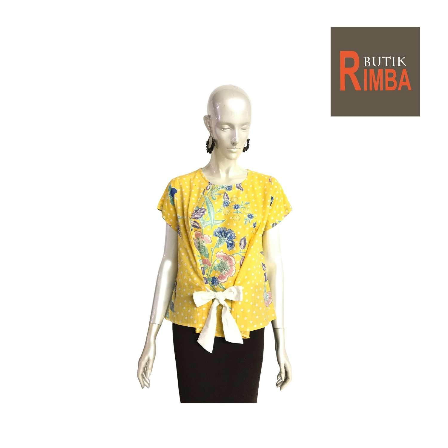 TRENDY SHORT SLEEVE BATIK TOP WITH VIBRANT COLORS FOR MODERN AND STYLISH WOMEN
