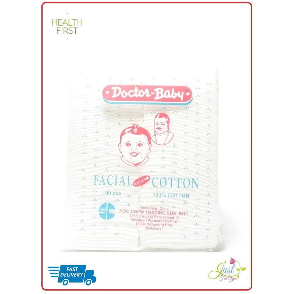 Doctor Baby  Facial cotton 100 pcs 100% cotton
