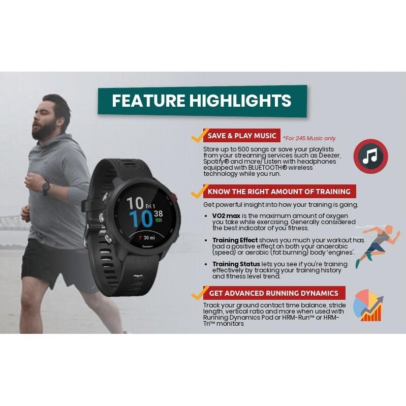 🥇 New Original Garmin Forerunner 245 / 245 Music GPS Running Watch | Shopee Malaysia