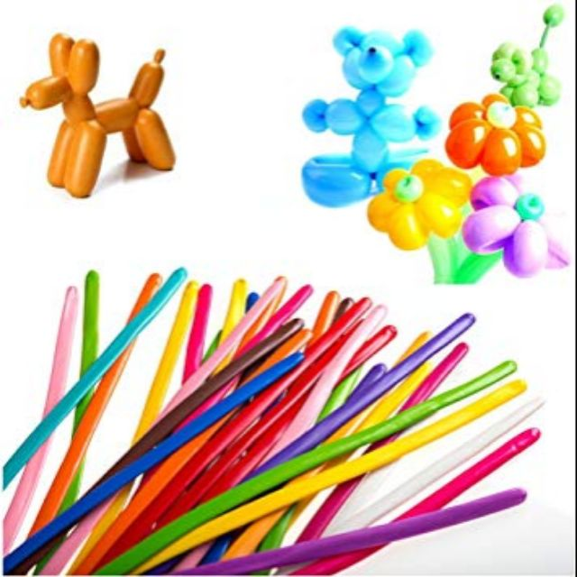 🎈 Long Balloon 1.2gram Assorted Colour (100 pcs)🎈