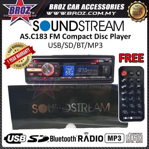 Broz SoundStream AS D183 FM Compact Disc 1 Single Din Player