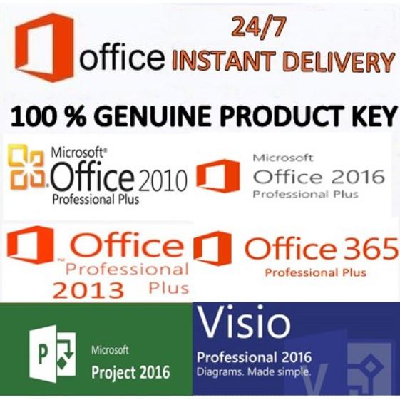 ORIGINAL MICROSOFT OFFICE 2019 2016 2013 2010 365/VISIO/PROJECT/WINDOWS  10/8/7