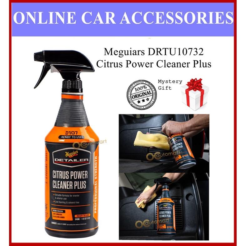 (Free Gift) Meguiar's DRTU10732 Citrus Power Cleaner Plus 946ml Meguiars Interior Cleaner Plastic Fabric Carpet Tyre
