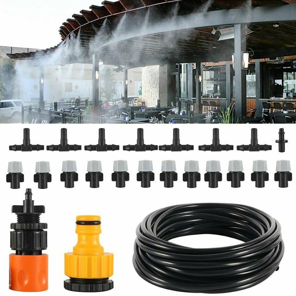 Humidify Misting Automated Irrigation Set Water Nozzles Kit Cooling System