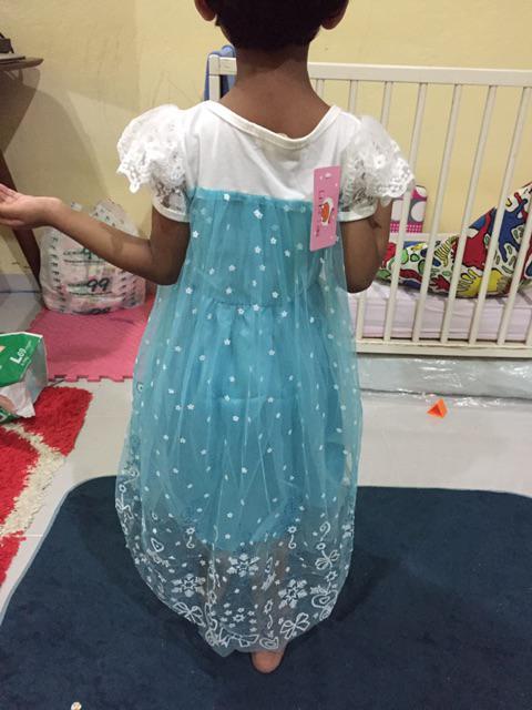 Gaun Princess Dress Elsa Frozen Sofia Baju Budak Clothing Frozen ... 68c29cef90