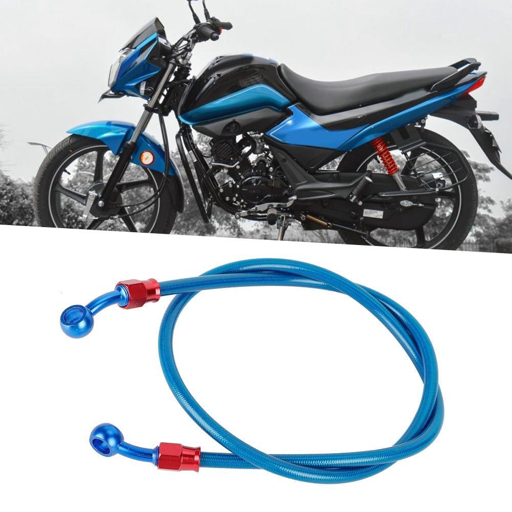 50cm Motorcycle Oil Hose 500mm-Black 200cm Motorcycle Braided Steel Brake Clutch Oil Hose Line Pipe for Motorcycle Pit Dirt Bike Enduro Motocross Street Bikes