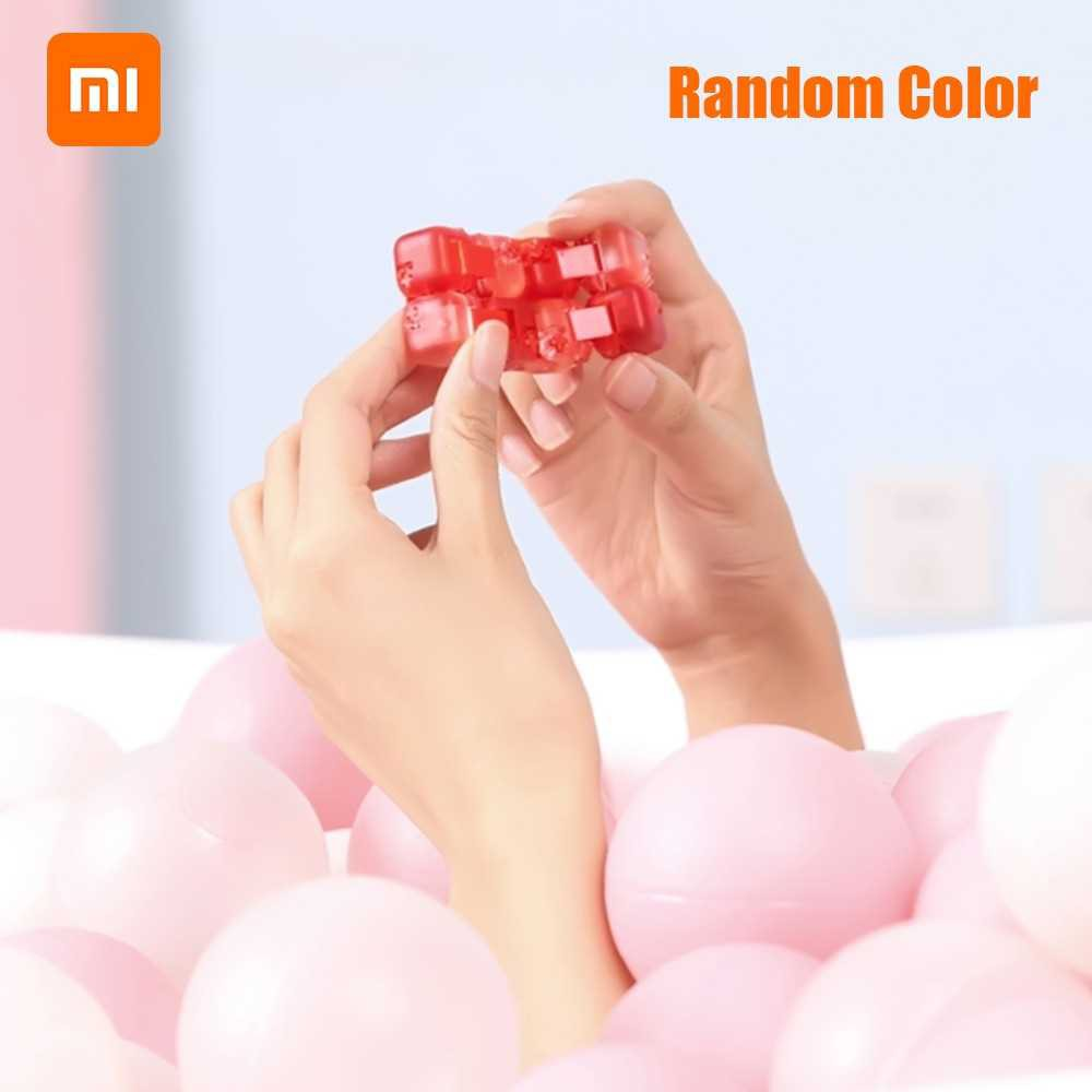 Xiaomi Colorful Building Blocks DIY Assemble Finger Spinner Fidget Anti-stress Relax Toy Gifts for Kids Adults Random C