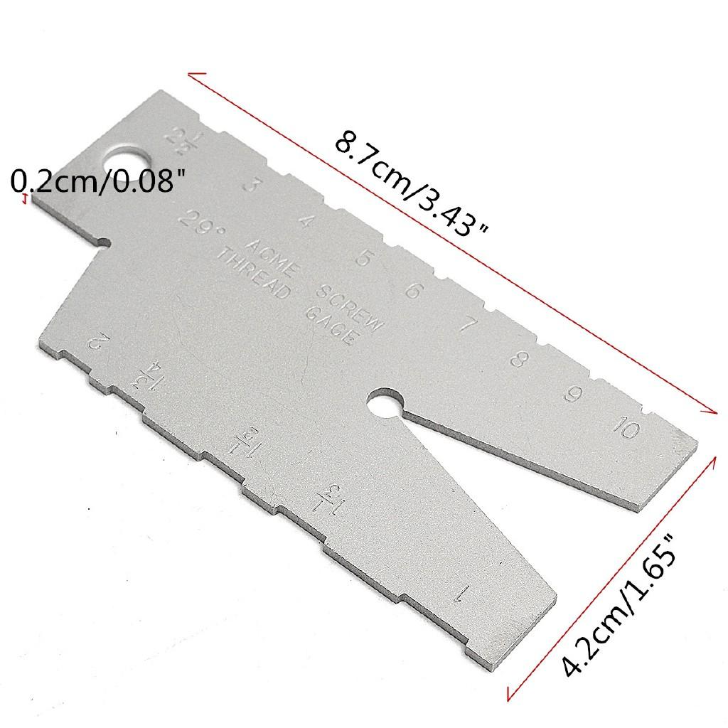 ACME Screw 29 Degree Thread Gauge Gage Grinding TOOL Laser Engraving