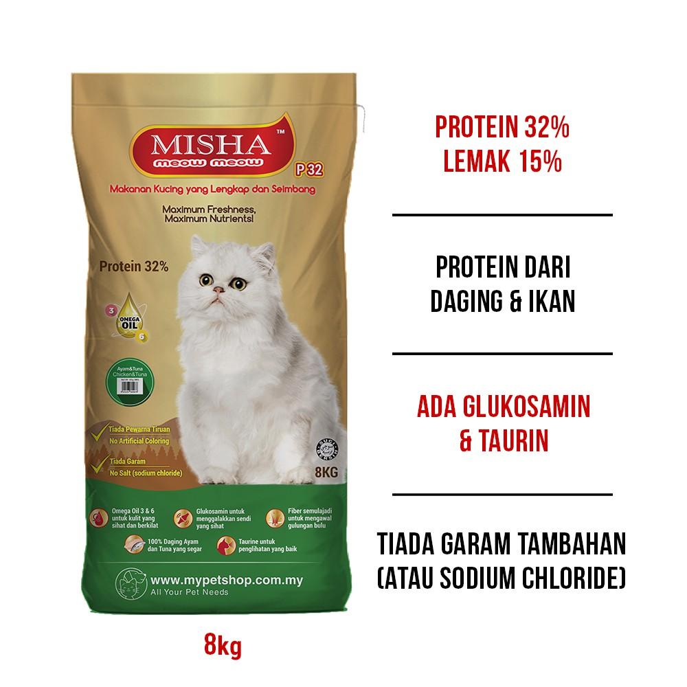 Misha Dry Cat Food Assorted Flavor 8kg Shopee Malaysia