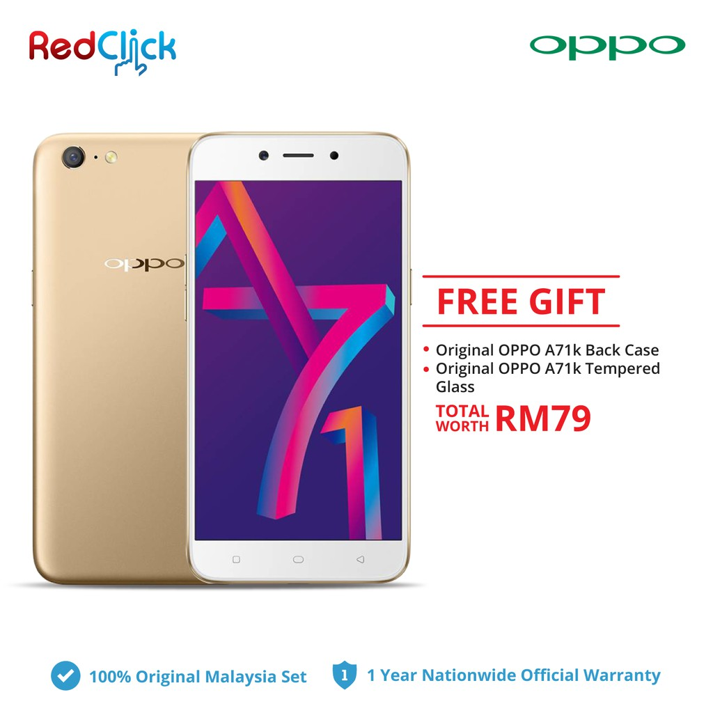 watch 45eb5 486e3 OPPO A71k / cph1801 (2GB+16GB) + 2 Free Gift Worth RM 79