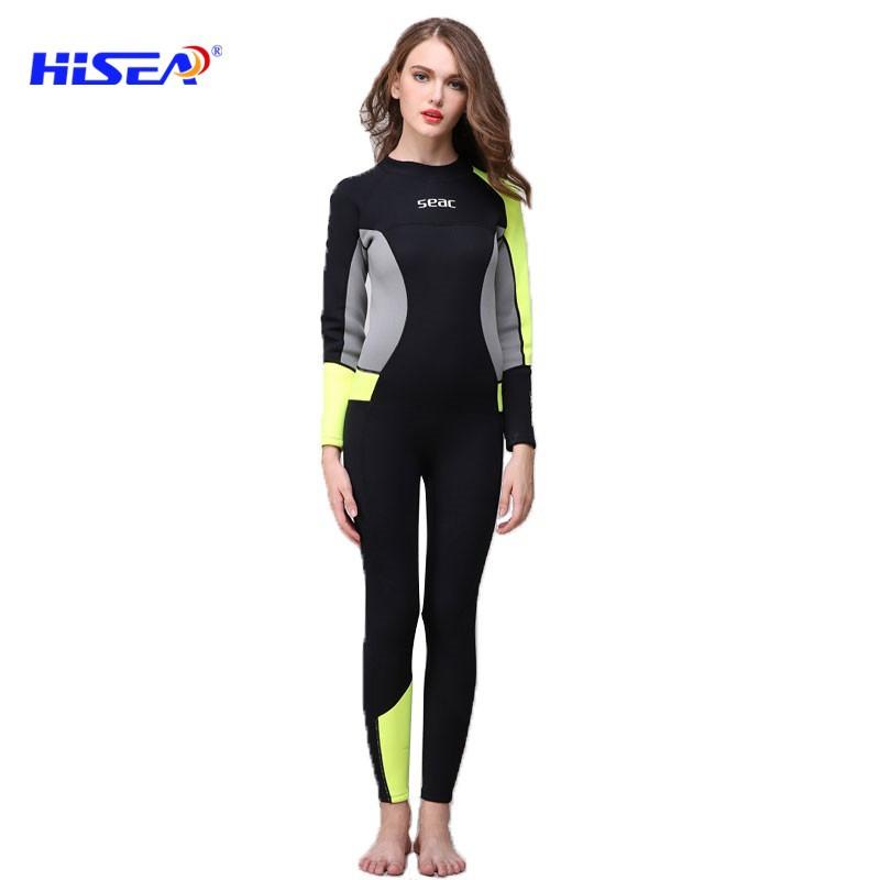 881aef3c49 2.5MM Neoprene Diving Wetsuits full body Swimming suit Girls Surf jellyfish  skin