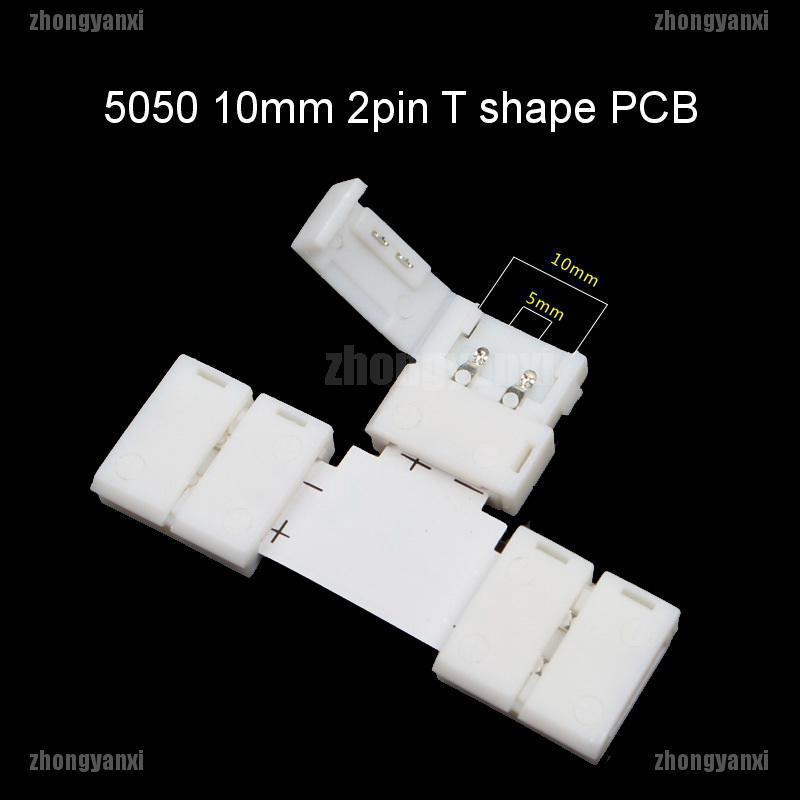8mm//10mm 2pin//4pin T L X Shape Adapter Connector For 3528 5050 LED Strip Light