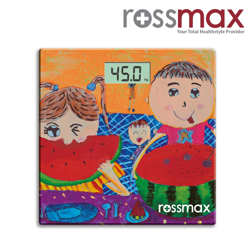 ROSSMAX Glass Personal Scale – Super Slim/Electronic (Digital Weigh Scale) Model WB100