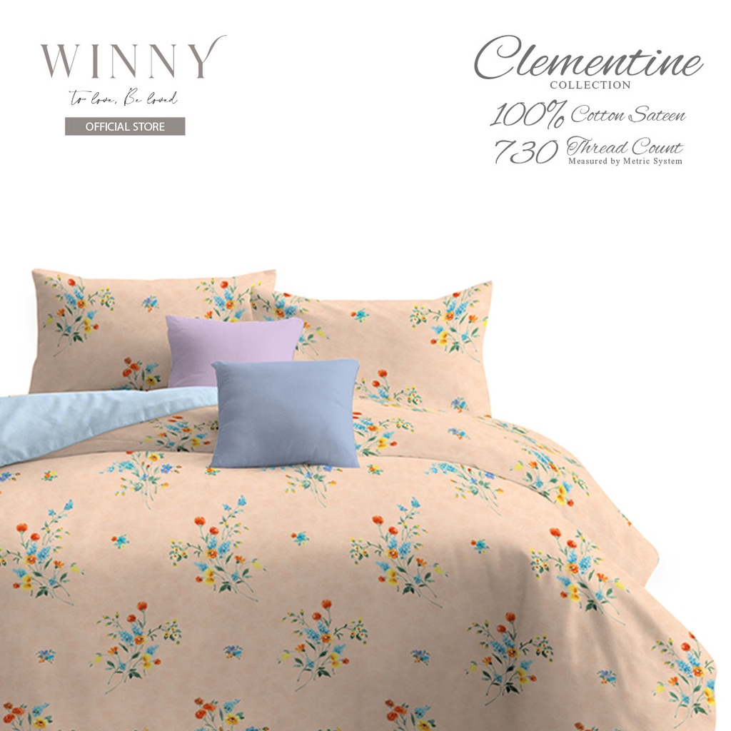 Winny Clementine Fitted Sheet Set