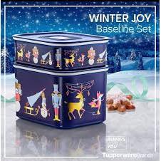 Tupperware Winter Joy Baseline Set (2pcs in a set)